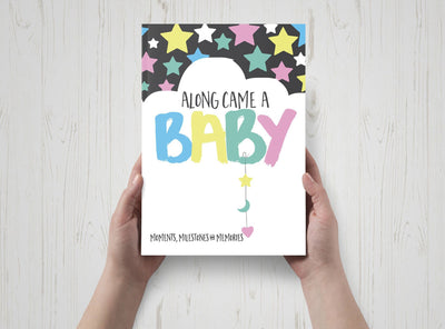 Along Came A Baby Milestone Book - nursery decor