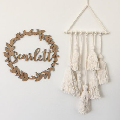 Name Wreath - Botanical - nursery decor