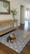 Squishy Play Mat- Grey Crosses (Reversible) - nursery decor