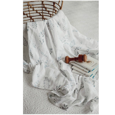 Organic Muslin Wrap - Wild Fern - nursery decor