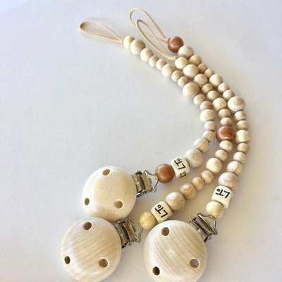 Naturel Raw Soother Chain - nursery decor