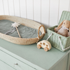 Luxe Organic Cotton Liner- Sage PRE-ORDER FOR EARLY MARCH - nursery decor