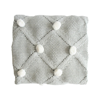Alimrose Pom Pom Blanket - Grey - nursery decor