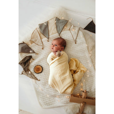 Organic Muslin Wrap - Vanilla - nursery decor