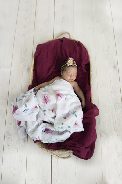 Organic Muslin Wrap - Wanderlust (PRE ORDER END MAY) - nursery decor