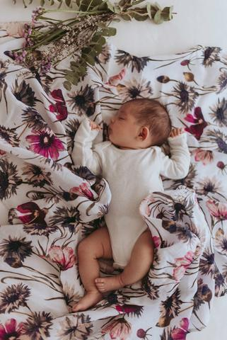 All About Aster Swaddle - nursery decor