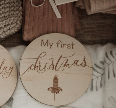 My First Christmas Plaque- Australiana - nursery decor