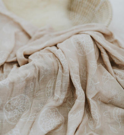 Boho Dreams Beach Sand Bamboo Muslin Wrap - nursery decor