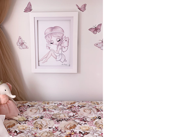 Isla Dream Prints Butterflies 'Fairy Magic' Fabric Wall Decals - nursery decor