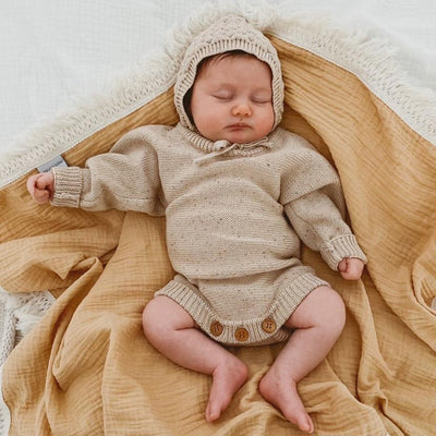 Ziggy Lou Heirloom Romper - Caramel Fleck