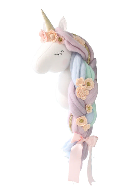 Carousel Unicorn - Wall Mounted Animal Head - nursery decor
