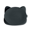 Cat Stickie Plate- Charcoal - nursery decor