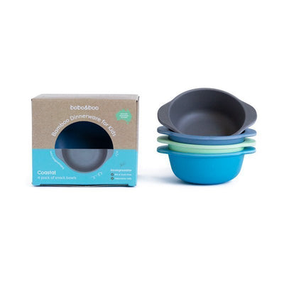 Bobo&Boo Bamboo Snack Bowl Set- Coastal - nursery decor
