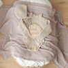 Heirloom Knit Blanket- Dusty Rose - nursery decor