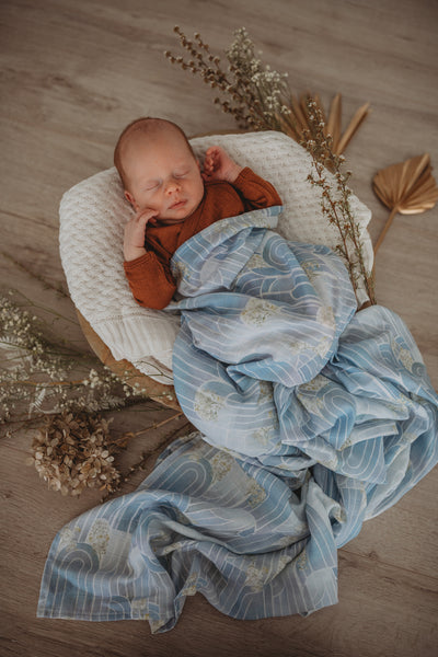Organic Muslin Wrap - Eventide- Miss Kyree Loves