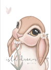 Isla Dream Prints Fawn Bunny Print - nursery decor