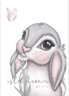 Isla Dream Prints Freya Bunny Print - nursery decor