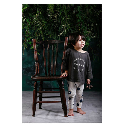 Anarkid Heading To The Woods Oversized Tee Charcoal - nursery decor