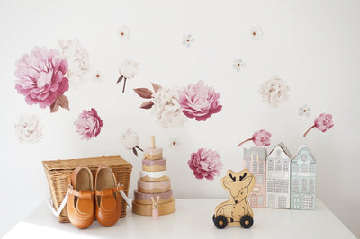 Peony Flower Set- Individual Cut Out Flowers - nursery decor