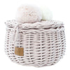 Wicker Basket Small- Dusty Pink - nursery decor