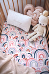 Rainbow Baby Fitted Cot Sheet - nursery decor