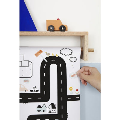 Playpa Stickers - Road - nursery decor