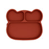 Bear Stickie Plate- Rust - nursery decor