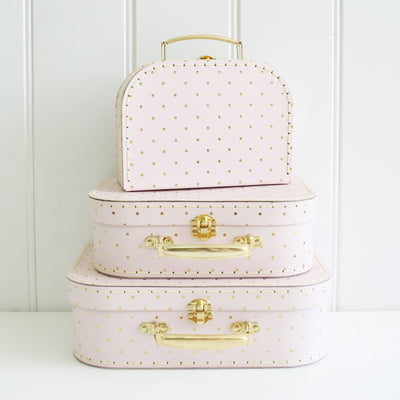 Alimrose Kids Carry Cases - Pink & Gold Spot - nursery decor