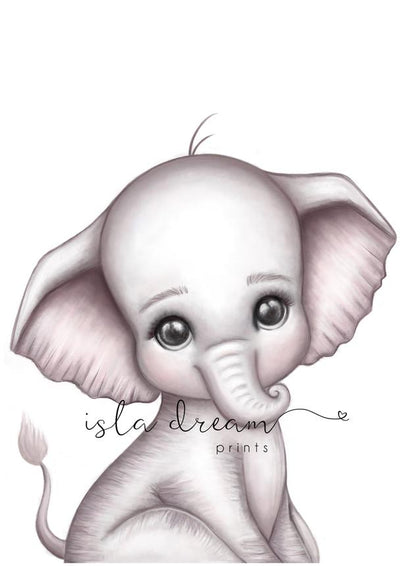 Isla Dream Prints Theodore the Elephant Print - nursery decor