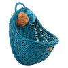 Wicker Wall Basket- Turquoise - nursery decor