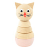 Wooden Cat Stacking Puzzle - Victoria - nursery decor