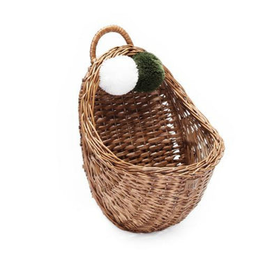Wicker Wall Basket - Natural - nursery decor