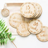 Wooden Pregnancy Milestone Discs - Wreath - nursery decor