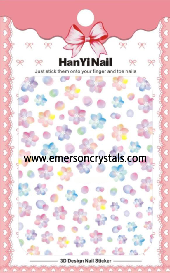 Nail Sticker - Design H15 - Emerson Crystals
