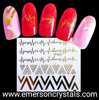 Nail Sticker - Design x6257 - Emerson Crystals