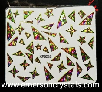 Nail Sticker - Design X6232 - Emerson Crystals