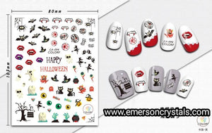 Nail Sticker - Design EC094 - Emerson Crystals