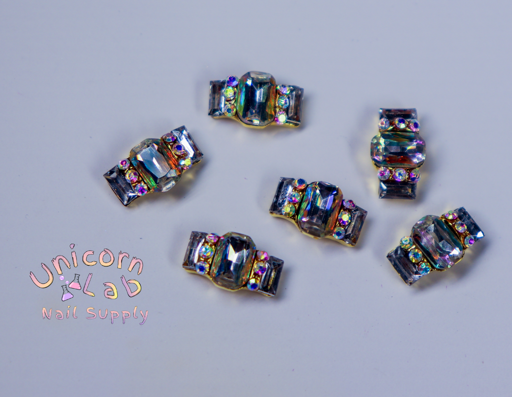 Crystal Band 3D charms  x 6 pcs - Emerson Crystals