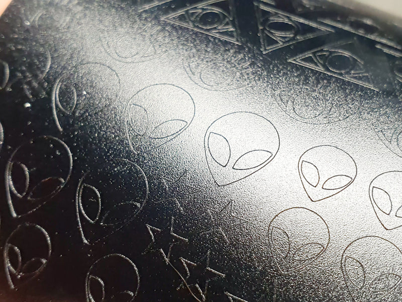 Matte Black Conspiracy decal sheet - Emerson Crystals