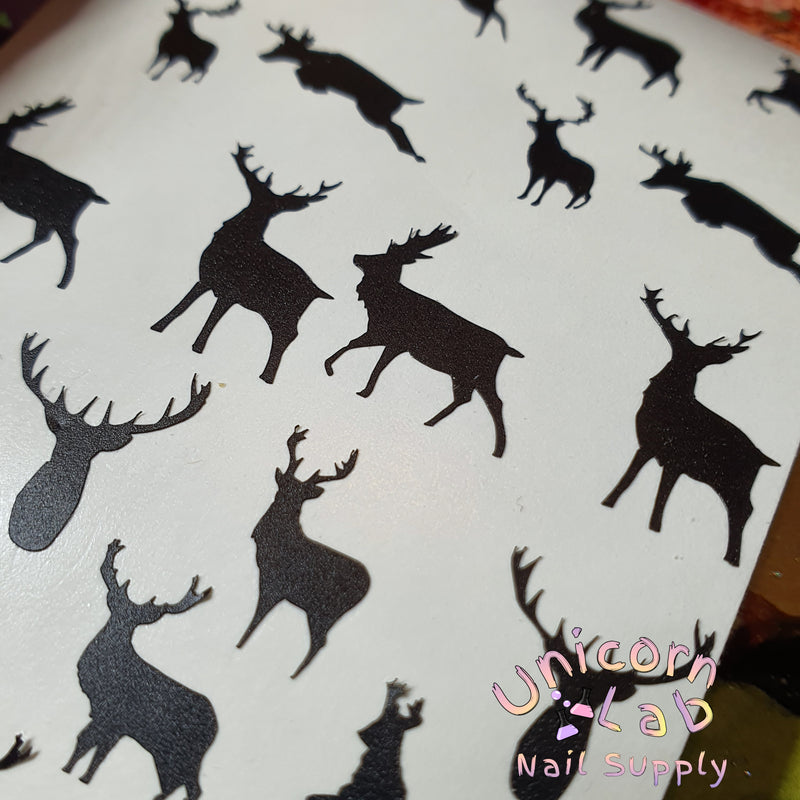 Black Stag decal sheet - Emerson Crystals
