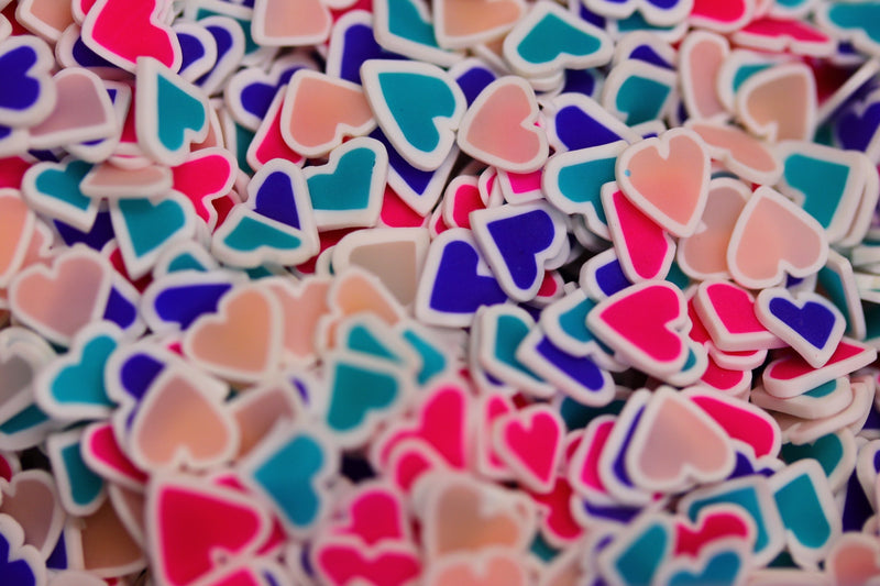 HEART FIMO PIECES