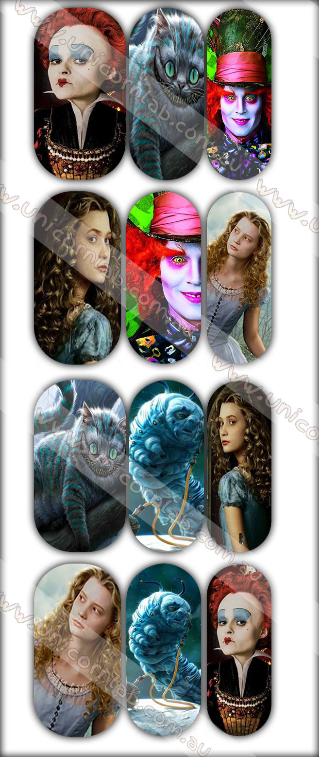 Alice in Wonderland Movie Waterslide Decals - Emerson Crystals
