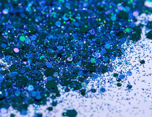 LIMITED EDITION Blue Bird Glitter