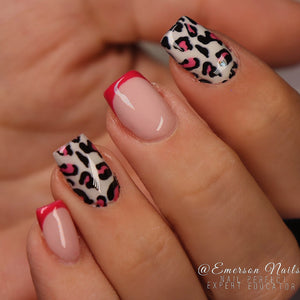 Pink Leopard Print Waterslide Decals - Emerson Crystals