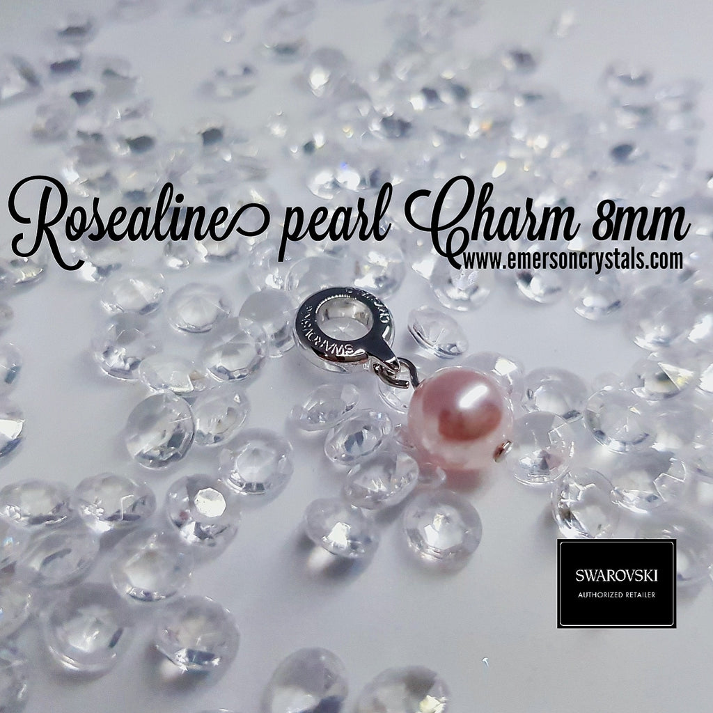 Roseline pearl Charm 8mm (87000) - Emerson Crystals