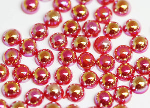 Iridescent Red Pearl 4mm