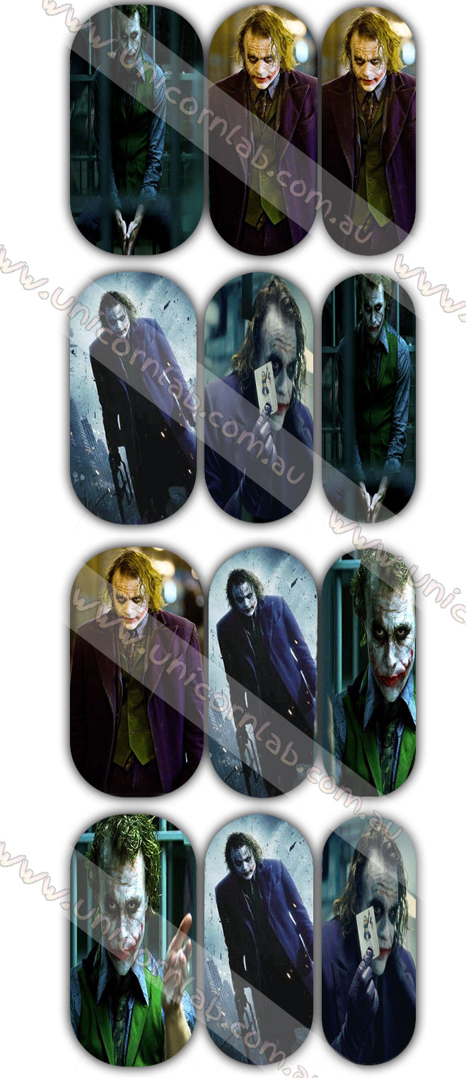 Joker (Dark Night) Waterslide Decals - Emerson Crystals