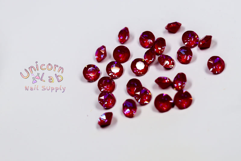 Royal Red Delite SS29 chaton (1088) x6 - Emerson Crystals