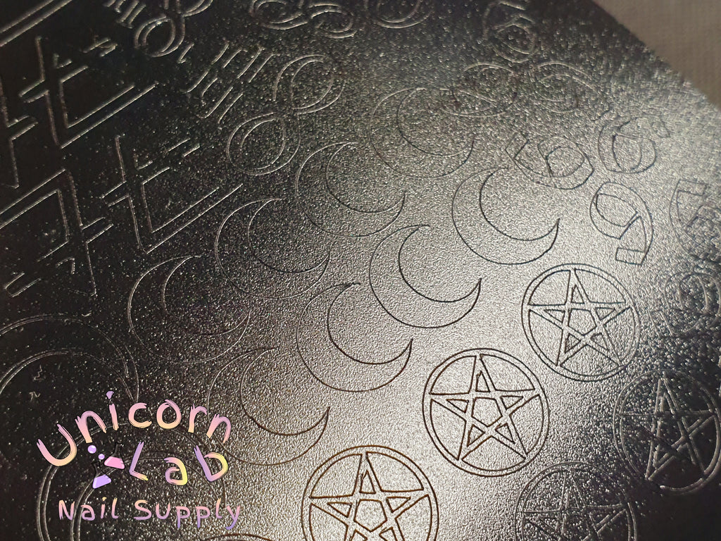 Matte Black Occultist decal sheet - Emerson Crystals