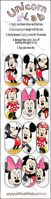 Mickey & Minnie Waterslide Decals - Emerson Crystals